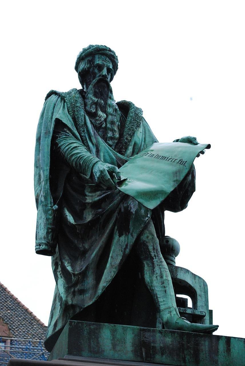 Statue de Jean Gutenberg à Strasbourg