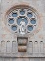 Statue of Saint Vincent by Jeno Bory, 1936. Saint Vincent de Paul church. - Budapest.JPG