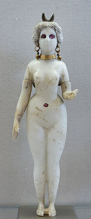 Astarte - Figurine of Astarte with a horned headdress, Louvre Museum