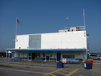The Woods Hole, Martha's Vineyard and Nantucket Steamship Authority - The Steamship Authority's former terminal in Woods Hole, razed in 2018.