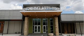 San Angelo Performing Arts Coalition theatrical campus in San Angelo, Texas, including Stephens Performing Arts Center and Murphey Performance Hall