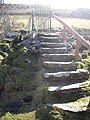 Steps to footbridge over the Deveron - geograph.org.uk - 1198617.jpg