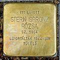 Stern Spronz Rózsa stolperstein (Budapest-07 Huszár u 6).jpg