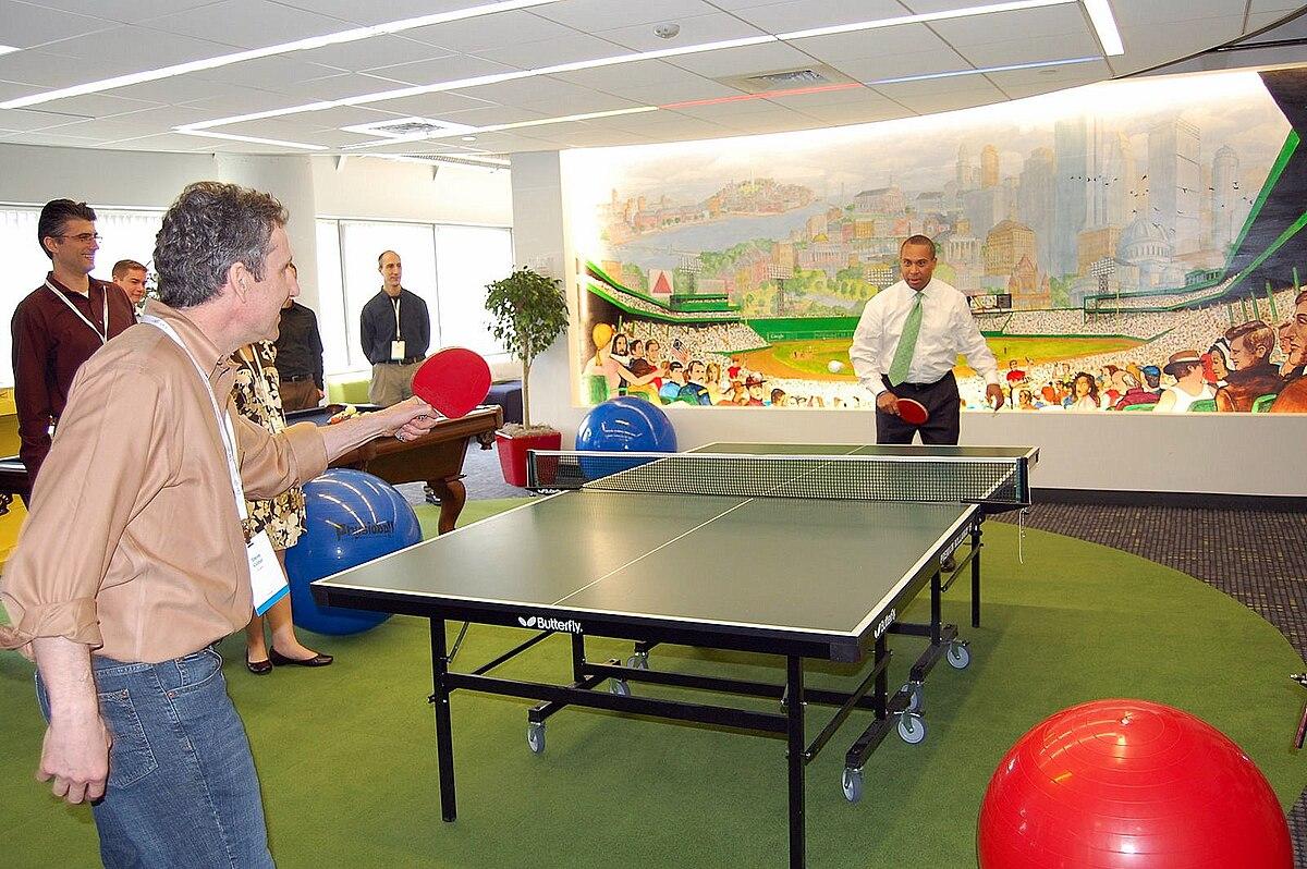 Steve Vinter and Deval Patrick play ping pong.jpg