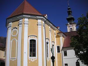 Rein Abbey, Austria - Image: Stift Rein Kirche Fassade Chor