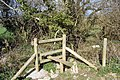 Stile at wooded area south west of Laleston - geograph.org.uk - 759594.jpg