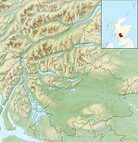 Map showing the location of Great Trossachs Forest National Nature Reserve