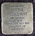 Stolperstein Bachstr 2 (Hansa) Hertha Rechelmann.jpg