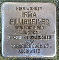Stolperstein Karlsruhe Irma Billigheimer Jollystr 41 (fcm).jpg