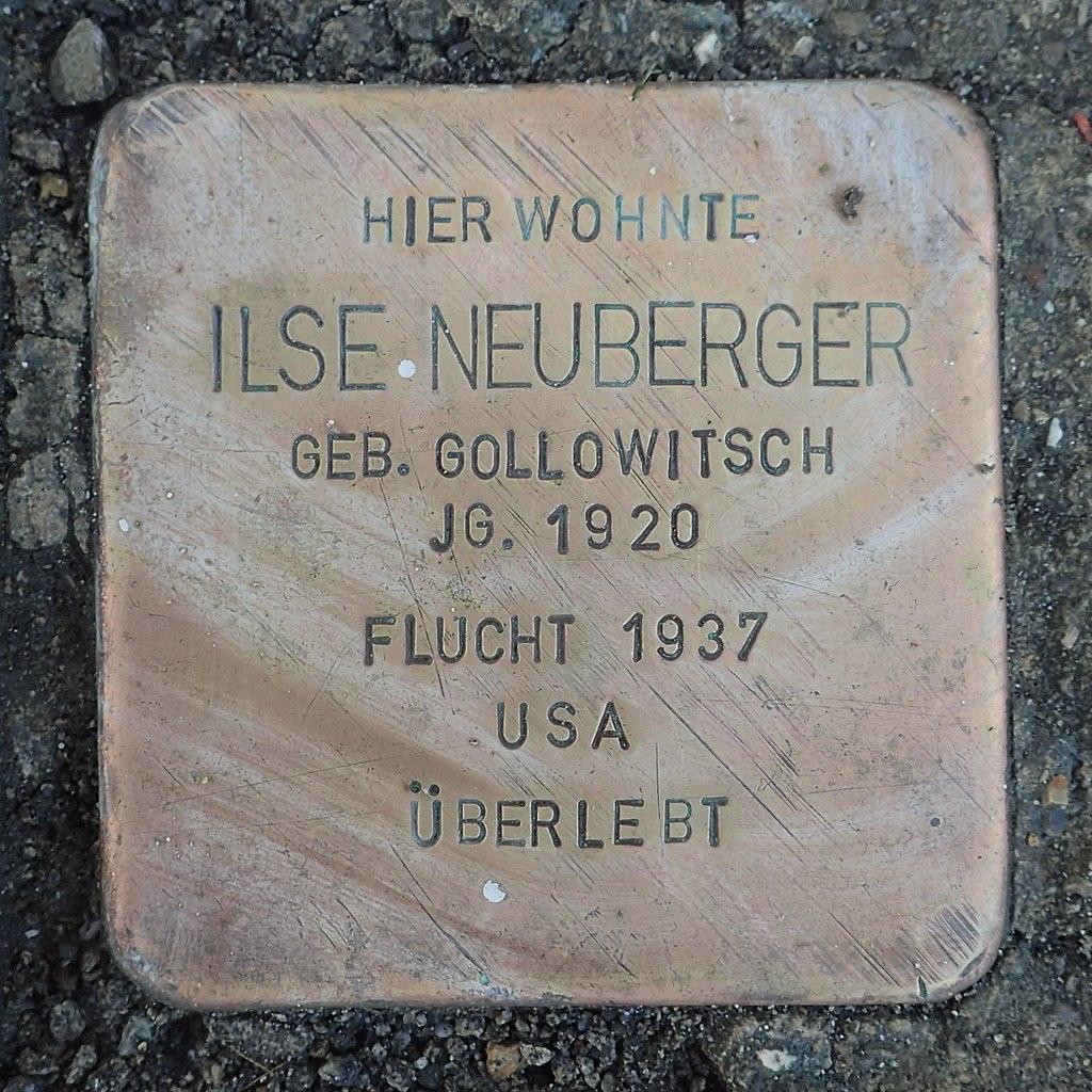 Stolperstein Leutkirch Karlstraße 12 Ilse Neuberger