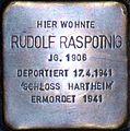 Stolperstein Salzburg, Rudolf Raspotnig (Wolf-Dietrich-Straße 33).jpg