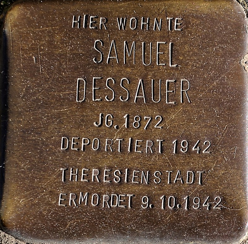 Stolperstein Solingen Klemens-Horn-Str. 6 Samuel Dessauer.jpg
