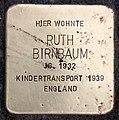 Stolperstein Thomasiusstr 14 (Moabi) Ruth Birnbaum.jpg