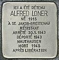 Stolperstein für Alfred Loner (Bordeaux).jpg