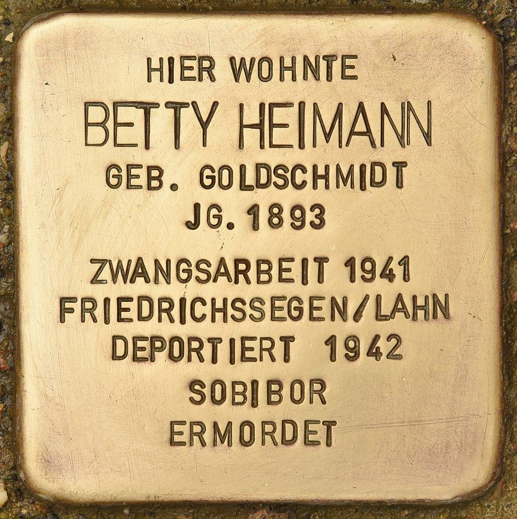 Stolperstein für Betty Heimann (Montabaur).jpg