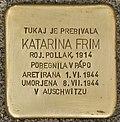 Stolperstein für Katarina Frim (Murska Sobota).jpg
