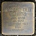Stolperstein for Henriette Cilly Weinberg (Rothgerberbach 6)