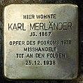 Stolpersteine Krefeld, Karl Merländer (Friedrich-Ebert-Straße 42).jpg