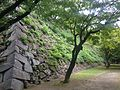 Stone wall of Tenshu of Fukuoka Castle 2.JPG