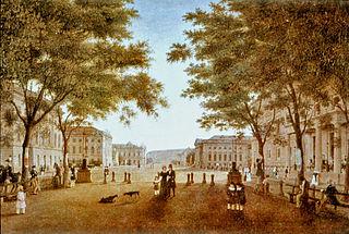 Straße Unter den Linden mit Schloss