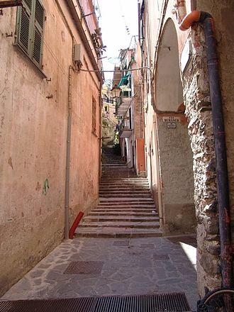 Monterosso al Mare - Street in Moterosso village