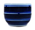 Stripes blue white sake cup 02.jpg