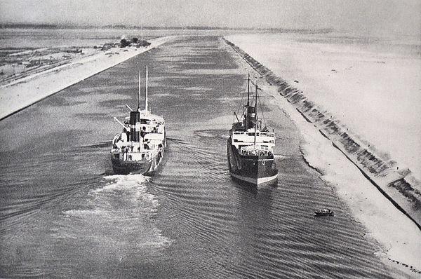Flygbild, Suezkanalen 1934