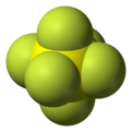 Spacefill model of sulfur hexafluoride