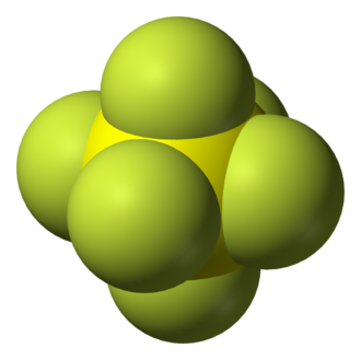 Octahedral molecular geometry - Structure of sulfur hexafluoride, an example of a molecule with the octahedral coordination geometry.