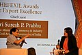 Suresh Prabhakar Prabhu speaking at the Shellac and Forest Product Export Promotion Council (SHEFEXIL) Awards for Export Excellence, in Kolkata on 07 July 2018.JPG