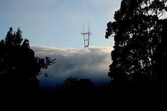 Sutro Tower - Seen above the coastal fog