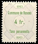 Switzerland Renens 1913 revenue 6 4Fr - 32.jpg
