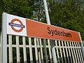 Sydenham station signage 2010.JPG