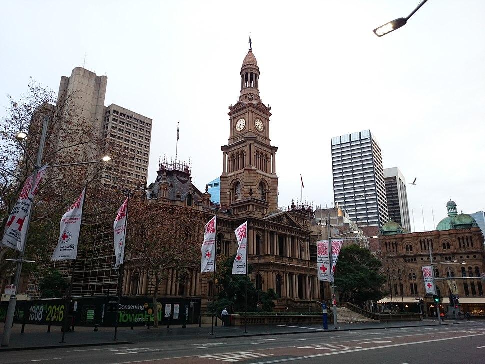 Sydney Town Hall on George Street