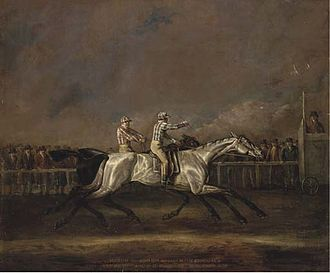 Symmetry (horse) - Symmetry defeats Sorcerer at Newmarket on 30 September 1800.