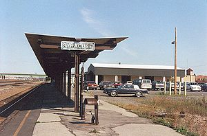 William F. Walsh Regional Transportation Center - Former Syracuse station from platform, November 1994