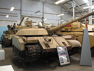Battle of Khafji - An Iraqi modification of the T-55 tank, codename Enigma, used during the battle