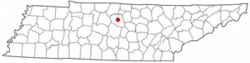 Location of Lebanon, Tennessee