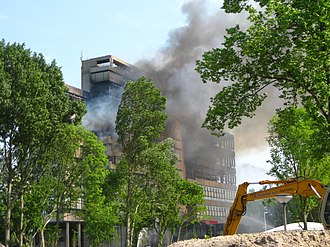 History of the Delft University of Technology - May 13 Fire of TU Delft Faculty of Architecture.