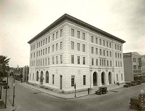 United States Court House, Custom House, and Post Office (Brownsville, Texas) - Image: TX Brownsville 1931 Ref