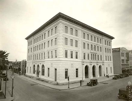 Picture of the Old Federal Courthouse; it currently serves as Brownsville's City Hall TX-Brownsville 1931 Ref.jpg
