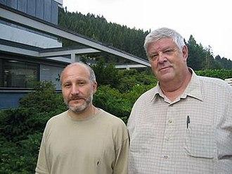 Sergei Tabachnikov - Tabachnikov (on the left) with Dmitri Fuchs in Oberwolfach, 2006