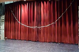 Front curtain - Back side of a tableau curtain - Grand théâtre d'Angers