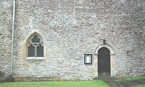 Tackley - St Nicholas' parish church: blocked 11th-century Saxon arcade on the north side of the nave