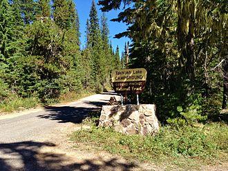 Takhlakh Lake - Takhlakh Lake Campground Sign