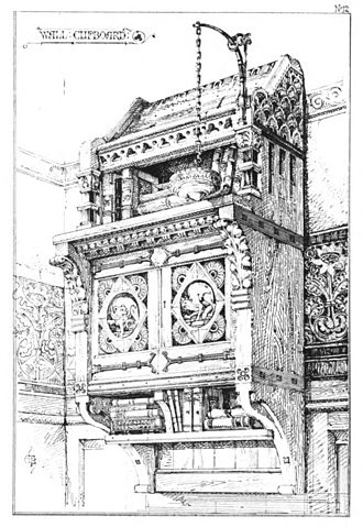 Modern Gothic cabinet - Image: Talbert Gothic Forms 1873 plate 12