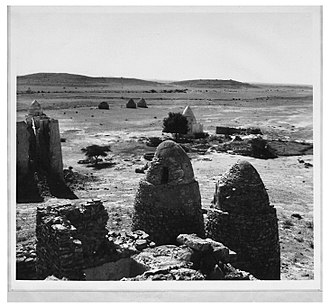 Nur Ahmed Aman - Taleh forts and tombs of dervish Somaliland 1930. Sultan Nur's tomb is in the left-hand corner