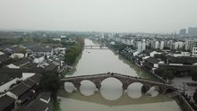 2020年,京杭大运河杭州余杭塘栖段。围绕广济桥两岸,已经成为杭州北部一处知名旅游景点