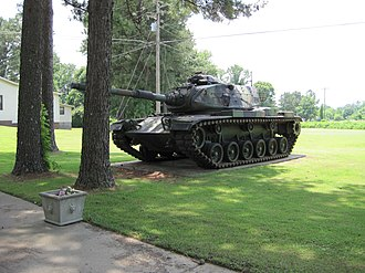 Hernando, Mississippi - Image: Tank at Memorial at VFW Post Hernando MS 03