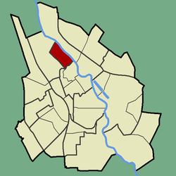 Location of Supilinn in Tartu.